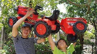 Trò Chơi Ráp Xe Máy Cày ❤ ChiChi ToysReview TV ❤ Đồ Chơi Trẻ Em Baby Tractor