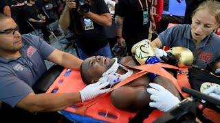(Reaction) Javier Fortuna leaves Adrian Granados fight in Stretcher...Ruled a No Contest!!!