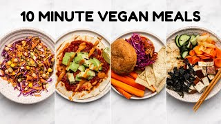 Easy 10 MINUTE Vegan Meals ????