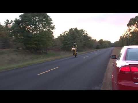 Motorcycle Wheelie Crash in HD