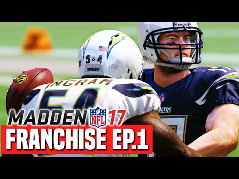 Madden 17 Chargers Franchise Ep.1 - Team Intro & Gameplanning For Week 1