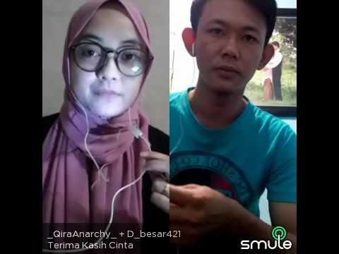 DUET MAUT SMULE ! Qira Feat D_besar - Terima Kasih Cinta cover Afgan