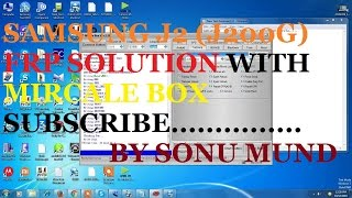 How to remove samsung J2 (J200G)frp Google Acount verfi.with miracle box.