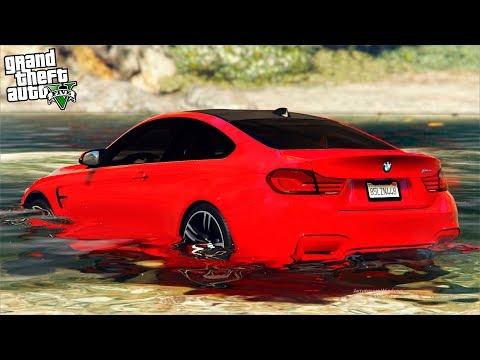 РЕАЛЬНАЯ ЖИЗНЬ В GTA 5 - ЗАКАЗНОЙ УГОН BMW M4! СКИНУЛИ БЭХУ С ОБРЫВА В ВОДУ! 🌊ВОТЕР