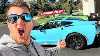 MY 1,000HP ZR1 BUILD IS DONE!!! My First Drive in the World's MOST INSANE C7 ZR1!