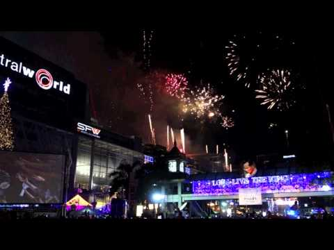 2013 Countdown Bangkok New Year's Eve at Central World HD