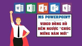 """MS POWERPOINT - SHARING FROM LEARNER   Create Video Countdown Clock """"Happy New Year"""""""