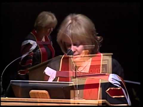 Kathy Reichs receives an honorary doctorate from Concordia University at fall convocation 2011