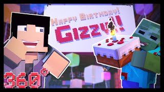 360 Minecraft: BIRTHDAY PARTY! (Animation)