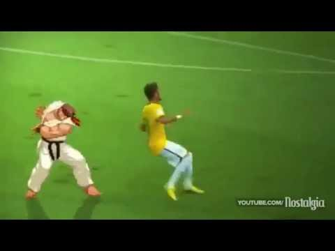 Oficial video meme of neymar injury in brazil world cup 2014