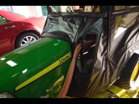 John Deere X748 soft cab and custom heater