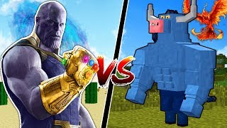 MINECRAFT INFINITY GAUNTLET vs MYTHICAL CREATURES!!