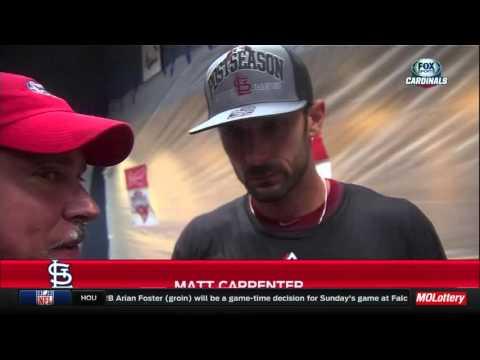 Cardinals NL Central celebration: Matt Carpenter
