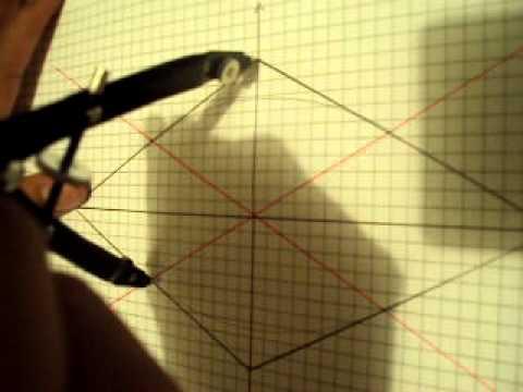 construcción de una elipse por el método de obstáculo