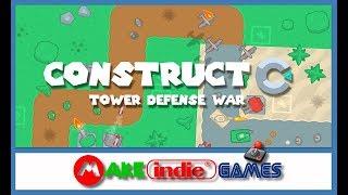 Construct 3 - Tower Defense - 14 Criando a tela de Game Over
