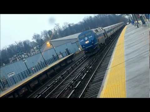 Amtrak & Metro North at Tarrytown 2/27/13