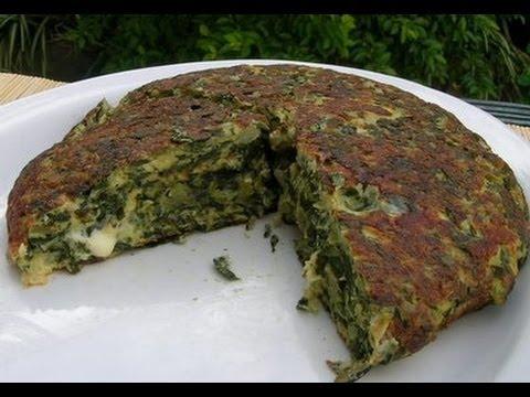 Tortilla de acelga y cebollas con queso fresco receta fáciles de cocina