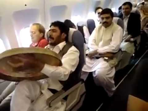 Afghans on a plane || Funny || Pashto Song || 2013 || Safi airlines...