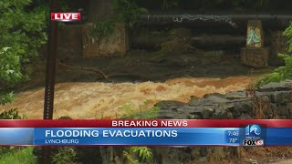Update on flooding evacuations in Lynchburg