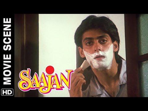 Salman goes mad after seeing Madhuri | Salman Khan, Sanjay Dutt | Saajan | Movie Scene