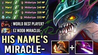THIS IS WHY HIS NAME'S Miracle- Slark Epic Feed To God Gameplay Comeback WTF Dota 2