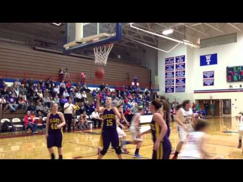 Wayne Trace versus Holgate girls basketball