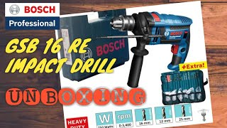 BOSCH GSB 16 RE IMPACT DRILL 750W HEAVY DUTY UNBOXING / BASIC PARTS / GSB16RE / GSB 16RE / GSB-16RE
