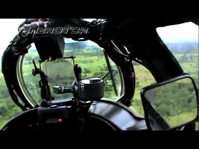 Disparo de cohetes Helicopteros Rusos del Ejercito Venezolano Mi-17 y Mi-35 .mpg
