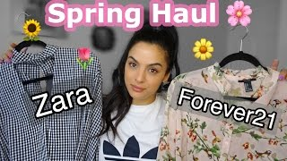 Spring Try On Haul-Zara/Forever21+SS17 Trends