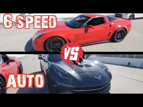 Manual VS Flappy Paddles! C6Z Corvette Vs Procharged C7 And Nissan GTR