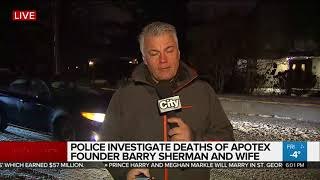 Police investigate deaths of Apotex founder Barry Sherman and his wife