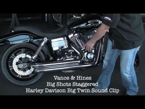 Vance and Hines Big Shot Staggered Exhaust Harley Davidson Sound Clip