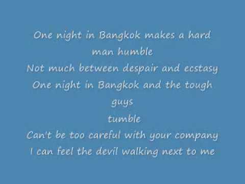 One night in Bangkok lyrics.wmv