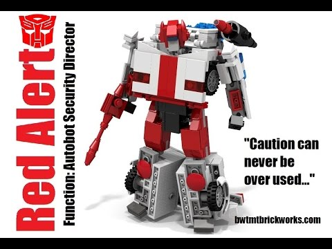 Lego Transformers G1 Red Alert Rebooted by BWTMT Brickworks