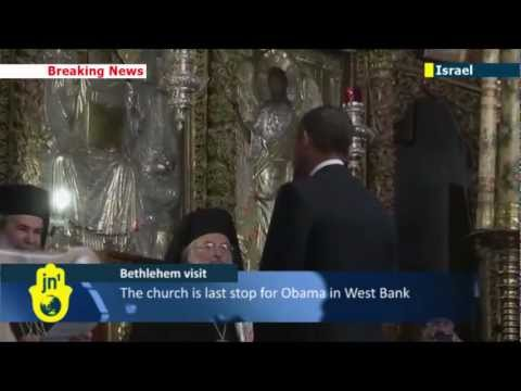 Obama Visits Bethlehem: US President tours Church of the Nativity with Mahmoud Abbas