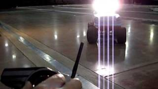 Home made RC car #19, test PIAA 004XT lights, 1955 chevy build