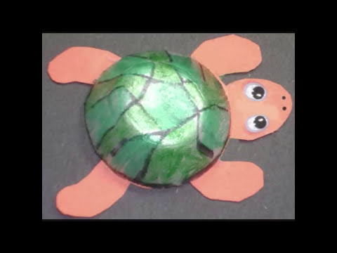 Cómo hacer una tortuga con un carton de huevos