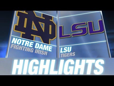 Notre Dame vs LSU  2014 ACC Football Highlights