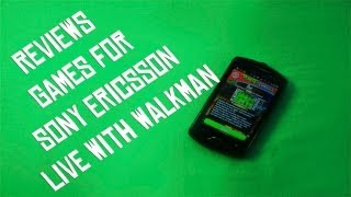 Sony Ericsson Live with Walkman Игры