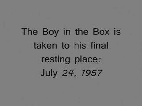 Americas Unknown Child Boy In The Box