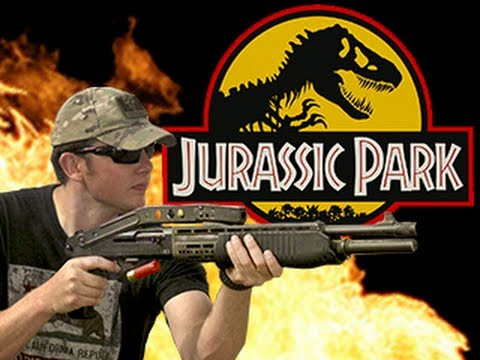 SPAS 12 -- Jurassic Park - RatedRR Phantom Slow Mo - The Breakdown- 4k - Flex Photron HDiablo 6k red