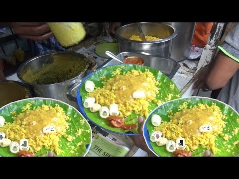 It's a Lunch Time in Chennai   Vegatable Rice with Khichdi @ 30 Rs   Street Food Heaven in Chennai