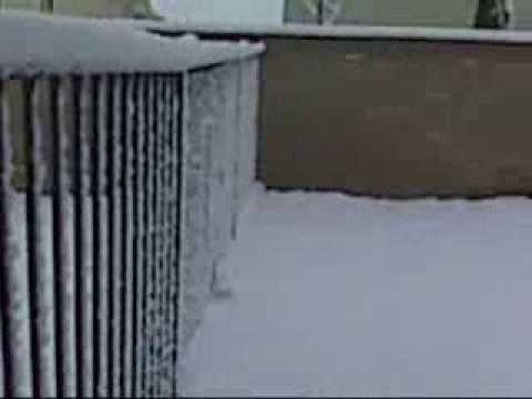 2011 first snow Lancaster CA.wmv