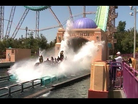 Journey to Atlantis off-ride HD SeaWorld San Antonio