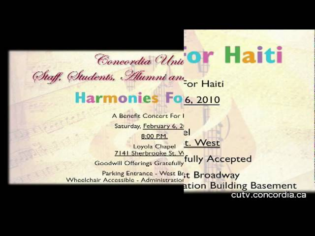 PSA Harmonies For Haiti