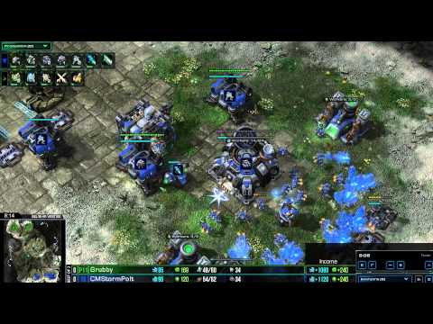 HD Starcraft 2 Polt v Grubby TvZ Heart of the Swarm g1