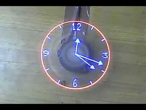 Rotating Led Clock Youtube
