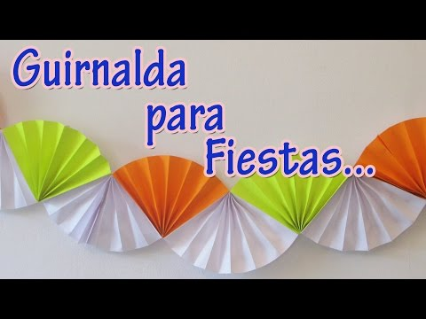 Guirnalda para fiestas - Party ornament