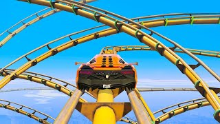 MOST INSANE ROLLER COASTER YOU WON'T BELIEVE EXISTS - GTA 5 Funny Moments