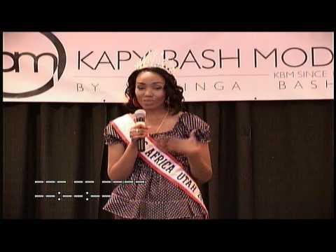 Mama Africa kitoko: Fashion show Miss Utah